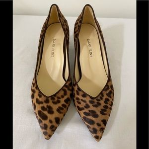 NWOB $425 SARAH FLINT Perfect Emma Calf Hair Heels